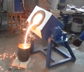 150kg copper induction smelter
