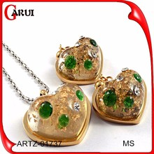 18k gold plated Austrian crystal fashionable jewelry vintage design fashion women jewelry set