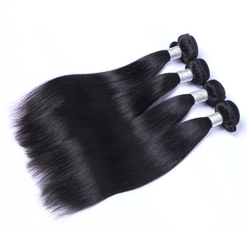 Human hair extension straight raw hair weft, peruvian straight hair bundle