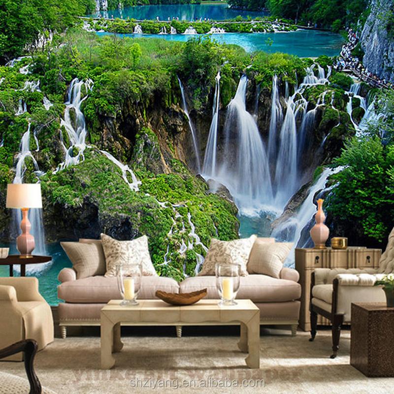 Custom Printed 3d Wall Mural Wallpaper Nature Landscape For Living