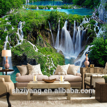 Custom Printed 3d Wall Mural Wallpaper Nature Landscape For Living Room Buy 3d Wallpaper Nature 3d Mural Wallpaper Nature Printed 3d Wall Mural
