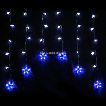 2017 best selling shining star curtain lights christmas window lights indooroutdoor waterfall fairy string