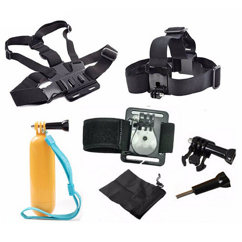 Free Shipping!!Accessories Set 9 In 1 Chest Strap / Tripod / Wrist Strap For