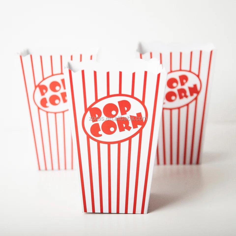 Zoras ポップコーンボックス、フレンチフライ容器使用、カップタイプフライドポテト紙コーン/紙ポップコーン/紙バケット