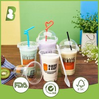 Recyclable printed take away 8oz 12oz 16oz wholesale disposable PP plastic cup