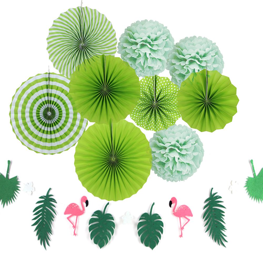 10pcs hawaiian party decorations paper flower balloon summer green 10pcs hawaiian party decorations paper flower balloon summer green theme party decoration supplie buy paper flower balloonhawaiian party decorations izmirmasajfo