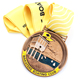 Custom Metal Die-Casting Running Medal With Sublimation Medal Ribbon Drape