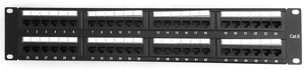 High Quality Network 8 Pins Copper Rj45 Patch Panel 48 Port