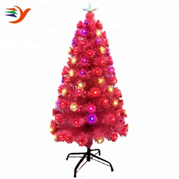 Eco Friendly 150cm Pink Pet Artificial Christmas Tree With Rainbow