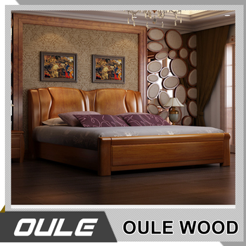 Indian Simple Design Bedroom Furniture Solid Wood Double Bed : bed-simple-design - designwebi.com