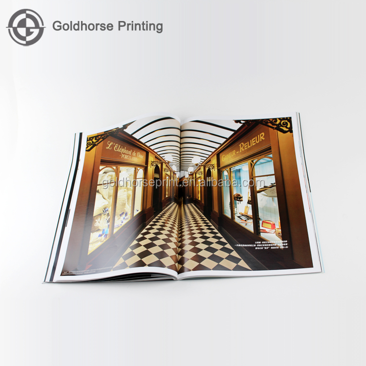 China Guangzhou cheap magazine printing catalog printing with perfect binding/Booklet/Pamphlet/Printing Magazine Service