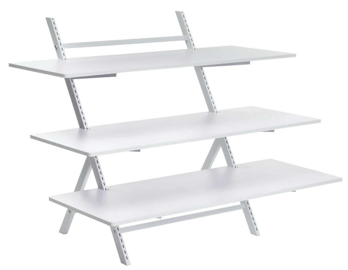 Get Quotations · Displays2go 3 Tier Display Table For Floor, Ladder Style Shelving  Unit With Height
