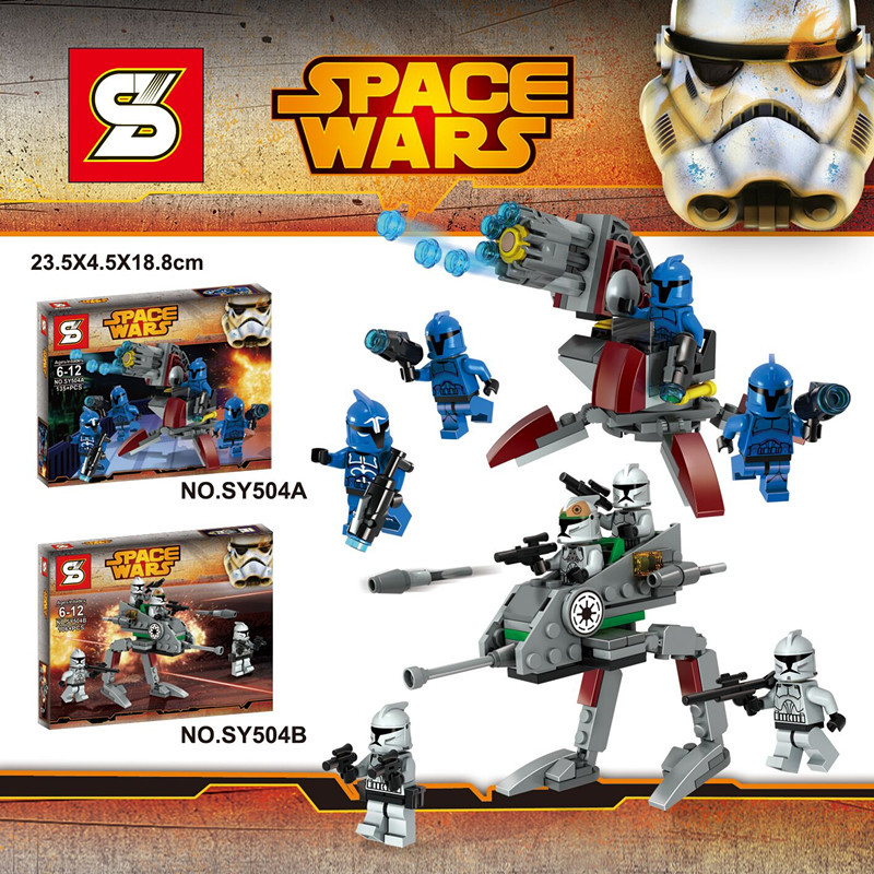 NEW Star Wars Clone Wars 4pcs Spaceship 8pcs Minifigures Building Blocks Sets toys compatible with lego Star Wars block figures