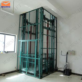Indoor and outdoor vertical warehouse hydraulic cargo lift for Indoor elevator