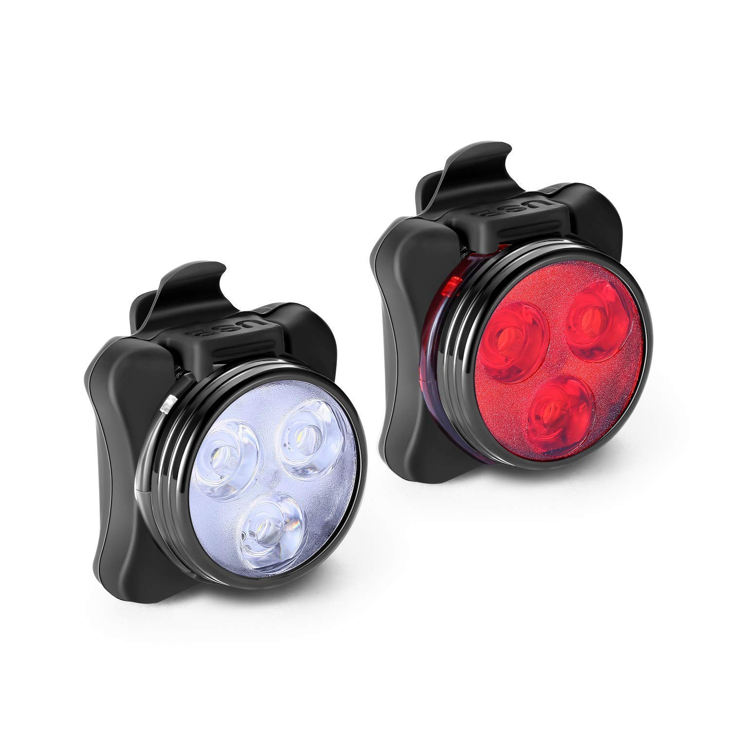 ZOUQILAI Rechargeable Bike Light Set Super Bright LED Mountain Bicycle Lights Front and Rear Night Ride Searchlight Taillight Warning Lights