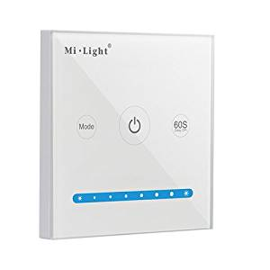 Mi.Light P1 Wall-mounted Full Touch Panel Dimmable Controller For 3528 5050 2835 All Kinds Of Single Color LED Strip Lighting DC 12-24V 15A 180W 360W