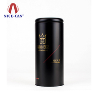 Nice-can custom service provided tea tea tin canister jar matte black
