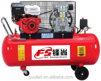 compresor de aire de gasolina. 170l/min venta caliente honda motor de gasolina compresor aire portátil