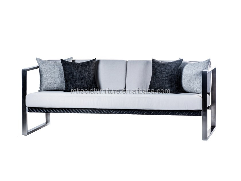 3 Seater Polish Stainless Steel Frame