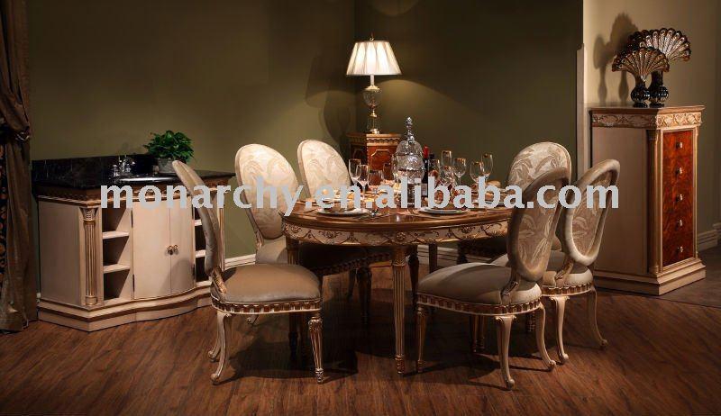 D123 41 haute qualit en bois massif classique table for Salle a manger classique