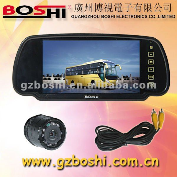 7 Inch Clip On Rear View Mirror Monitor System