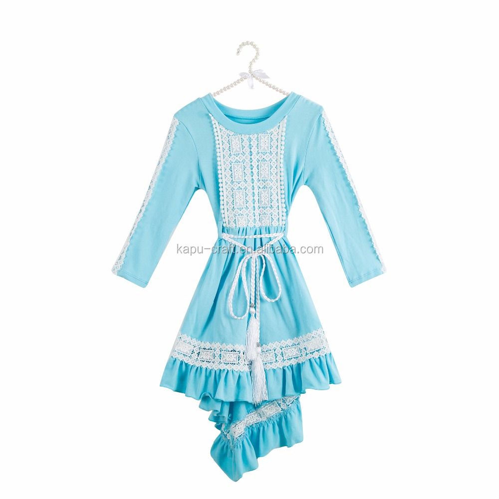 Blue Sweet Indiana Rose Dress,girl lace dresses