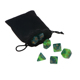 Customized Polyhedral Plastic Dice Game with Dice Handbags