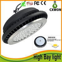 3 year Warranty led highbay lamp industrial warehouse factory lightings 250w 200w 100w 50w led ufo high bay light with high PF