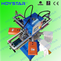 3 color Rapid rotary sleeves silkscreen printing machine with IR flash dryer