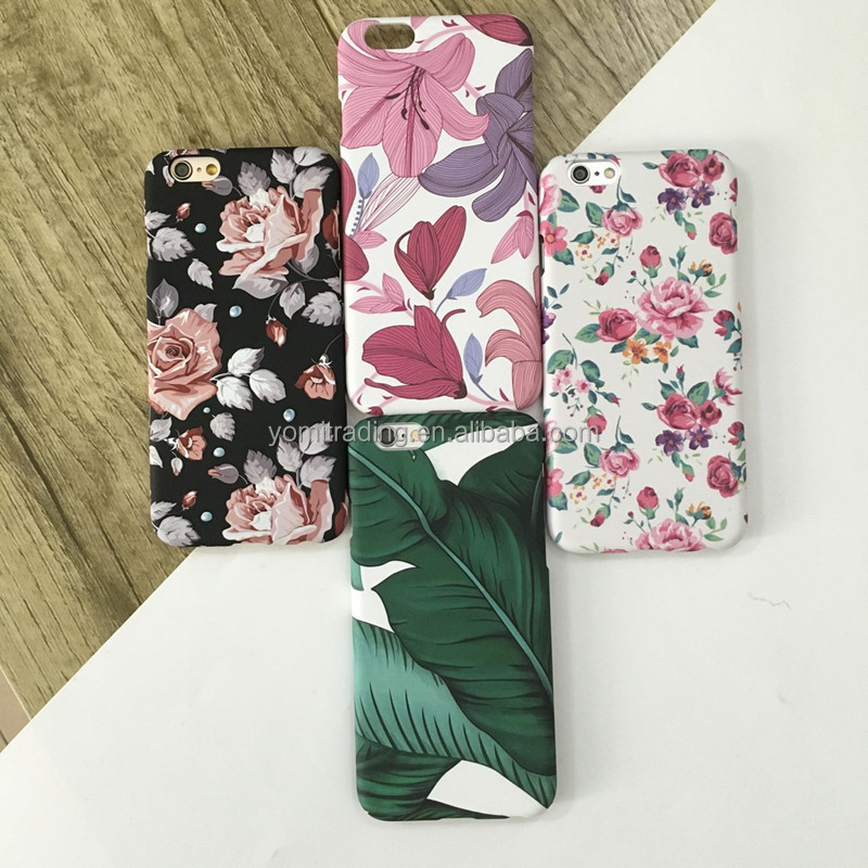 Hard matte hard pc japanese banana leaf phone case for iPhone 7