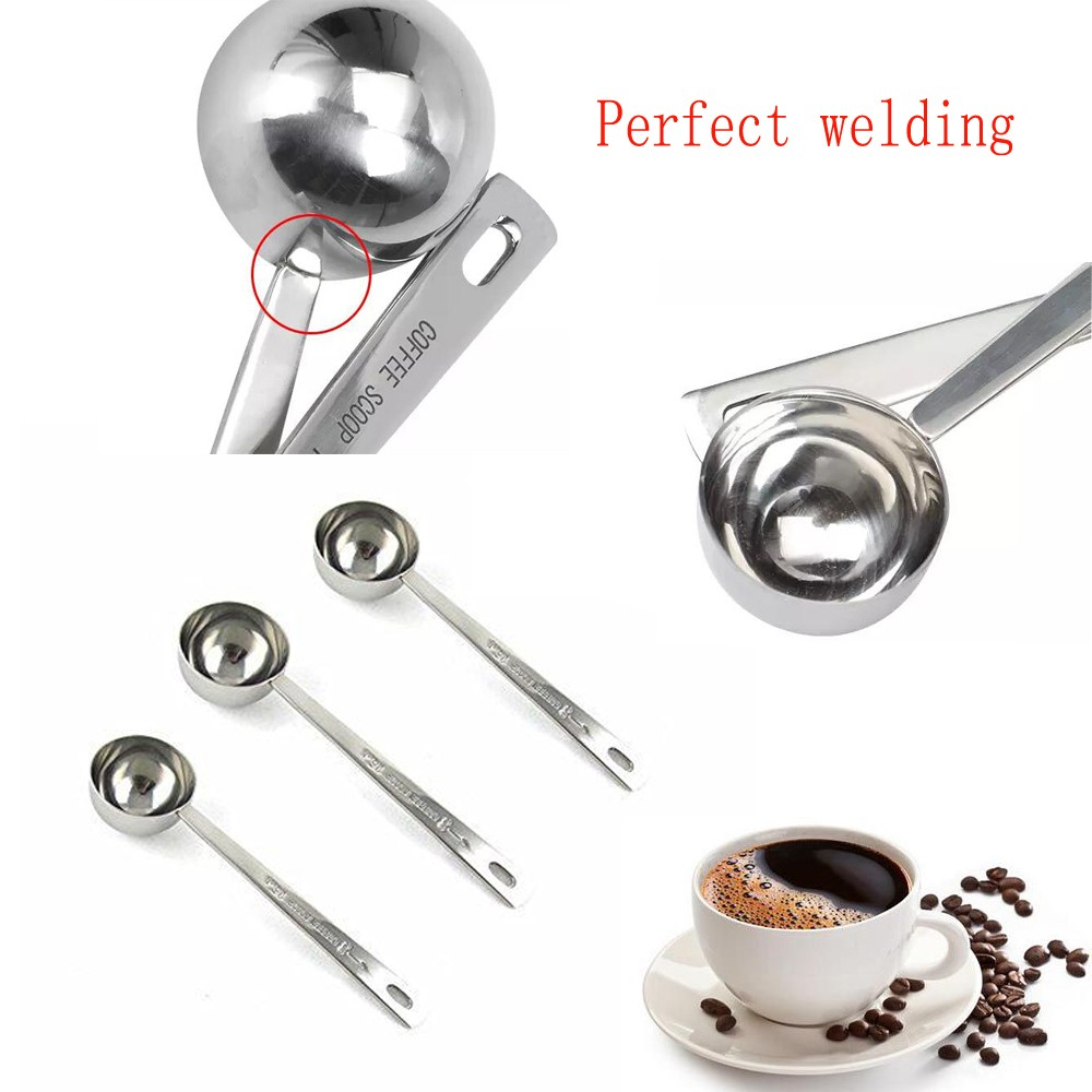 Christmas coffee single serve stainless steel coffee scoop/stainless steel coffee measuring spoon