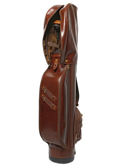 genuine leather golf bag golf stand bag