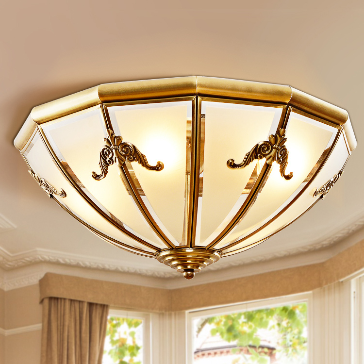 Zhongshan Suppliers Decorative Ceiling Copper Hanging Light