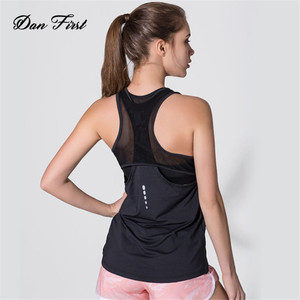 Sleeveless Reflective Training Sports Vest Mesh Quick Dry Tank Top for Women