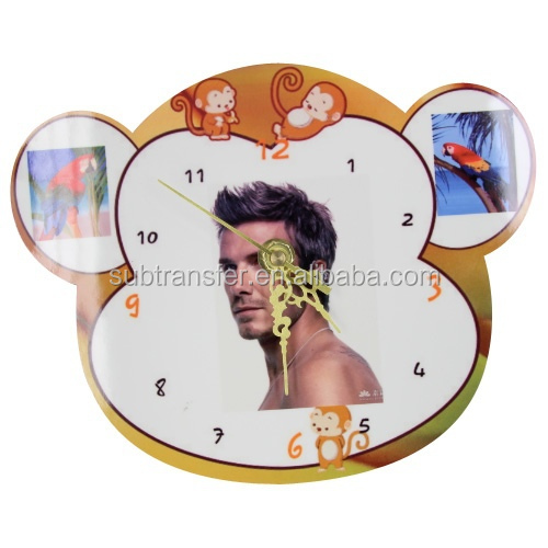 Sublimation Mdf Wooden Animal Clock,Sublimation Mdf Clock