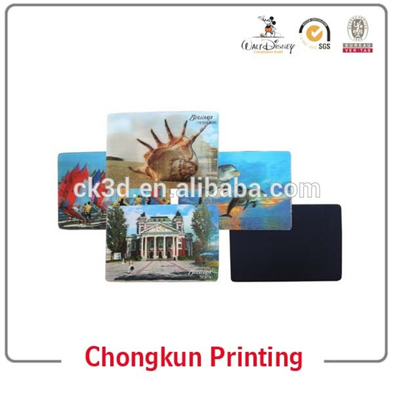 Hot Sell Manufacture High Quality Customized Promotional 3d lenticular printing rubber fridge magnet