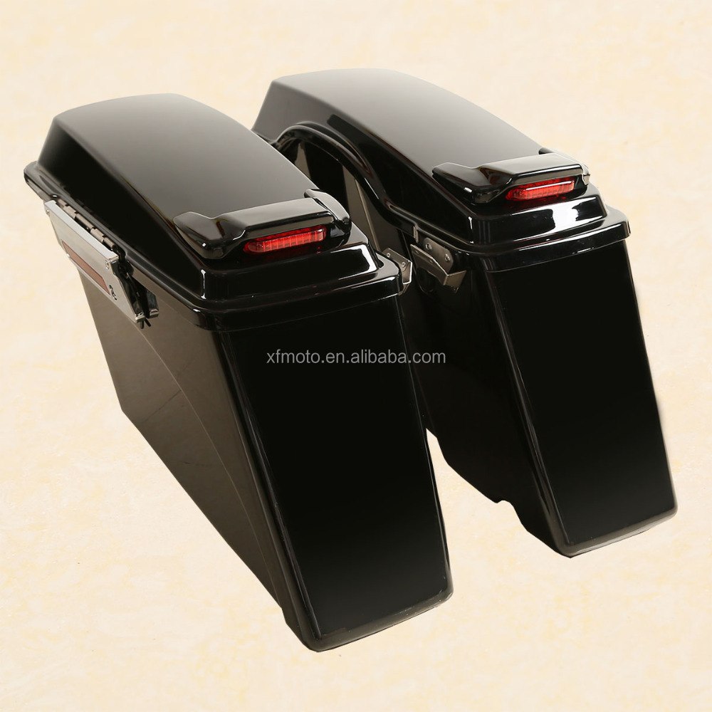 Saddlebag With Lid Spoiler For Electra Street Road Glide 94-13 96 Softail