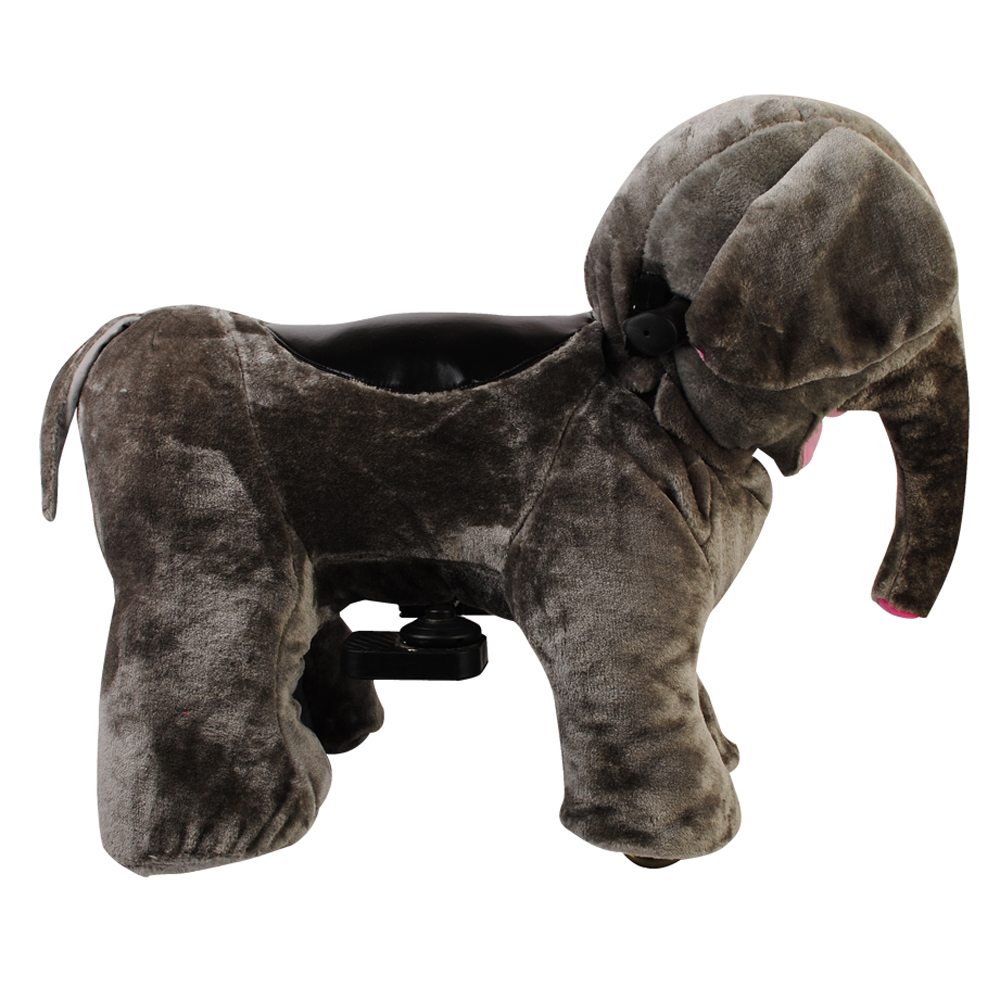 Cheap Elephant Plush Zoo Animal Electric Scooter
