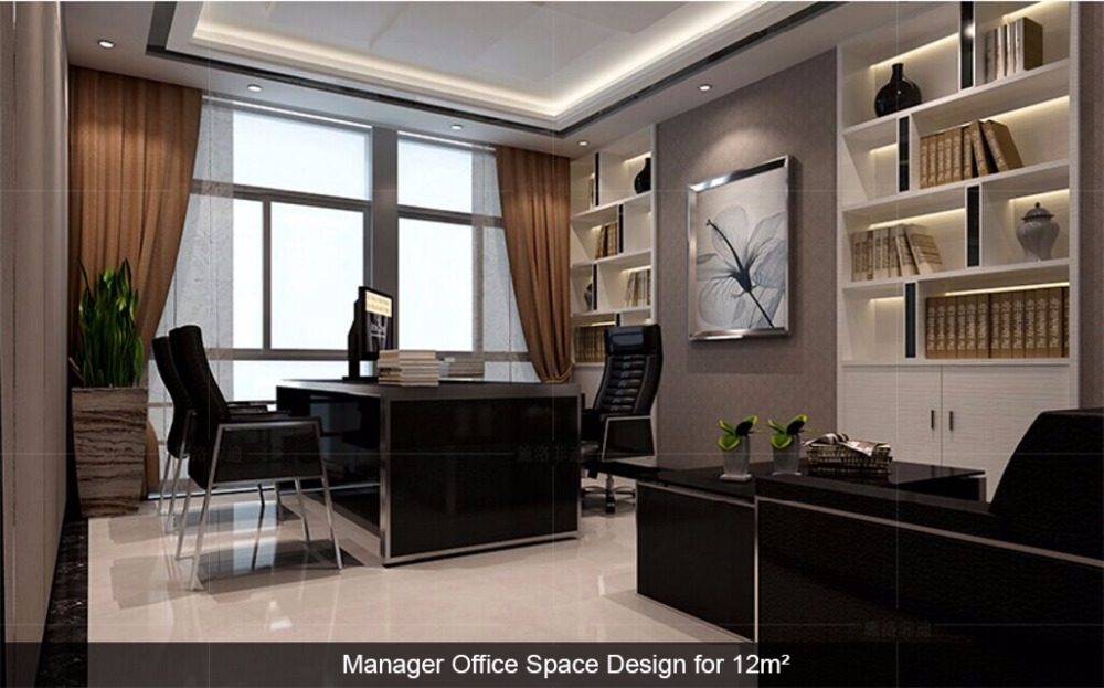 Scrivania Ufficio Nera : Semplice e moderno nero ufficio scrivania e sedie professionale d