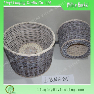 split willow garden baskets indoor home decoration garden flower pot