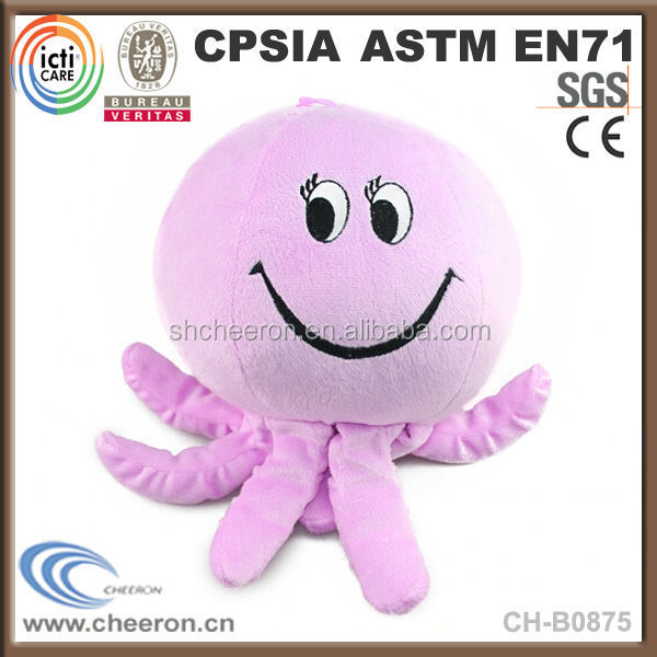 Super soft smiling octopus plush stuffed animal