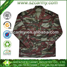 50% Cotton 50% Nylon Brazilian Tactical Rip Stop Camouflage army uniforms jackets