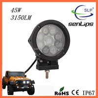 45W Led Spot Beam 3150LM Senlips Work Light Offroad XTELamp Car Truck Boat 4X4 SUV For All Vehicles 4X4