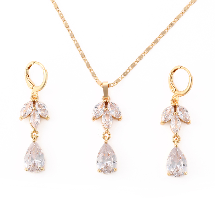 2018 new fashion jewelry earring,necklace sets Fine Dubai jewelry sets 18K gold plated jewelry set