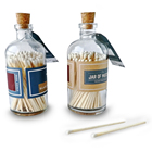 colorful match tips bottle matches match in bottles glass matches jar bottle matches
