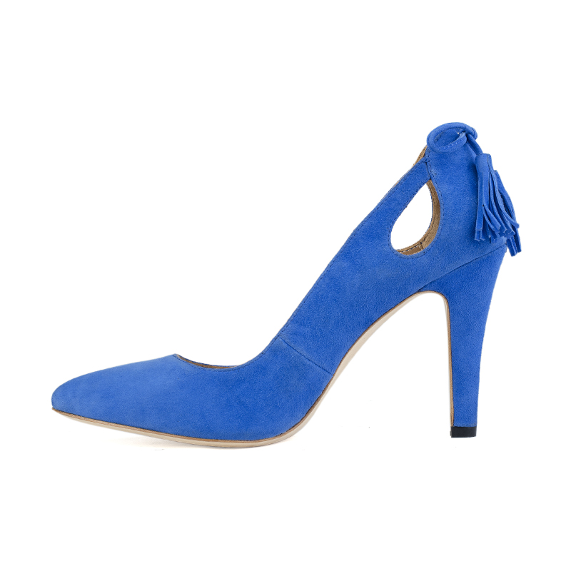 women shoes blue 2018 12cm heel tassel leather latest Chengdu genuine new with wholesale design high sexy wwSxzOaqX4