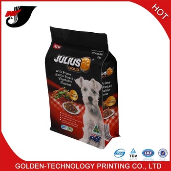 PET food flat bottom packaging bag