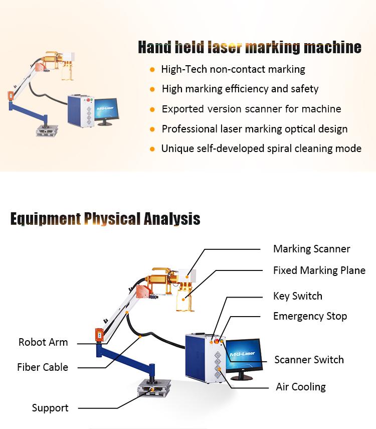 MRJ-Laser fiber color laser marking machine