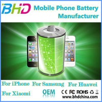 Factory OEM Mobile Phone High Capacity Rechargeble Battery for iphone for sumsung Smart Phones