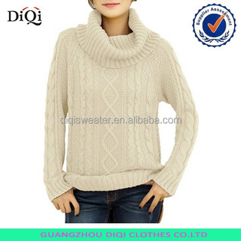 Mock turtleneck sweater women cable knit sweater fabric